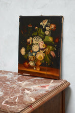 Antique 19th Century Oil Painting Of Flowers