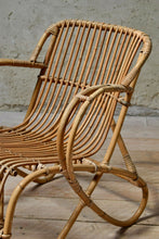 Pair of Vintage Rattan Easy Chairs