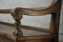 Antique Pine Station Platform Bench