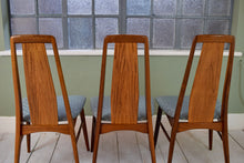 4 Mid Century Danish Dining Chairs Rosewood Niels Koefoed Eva Chair