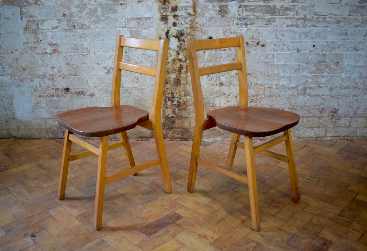 Vintage Stacking Chaple Chairs Sold by Stowaway London