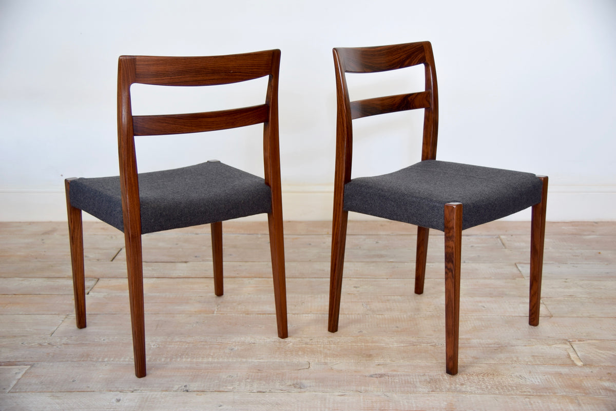 8 Swedish Rosewood Dining Chairs By Nils Jonsson For Troeds