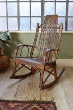 Vintage American Amish Folk Art Rocking Chair