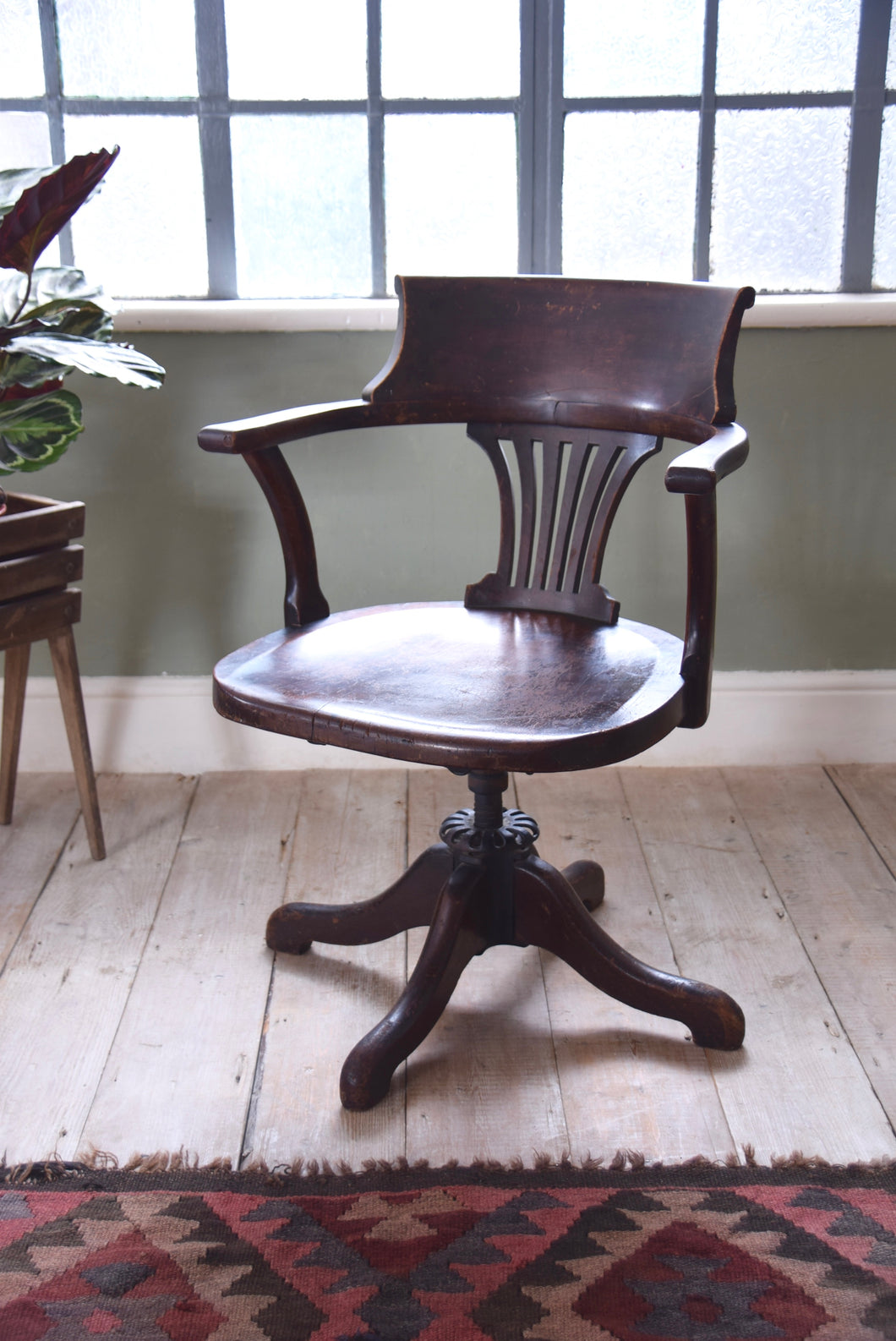 Antique Captain's Desk Chair