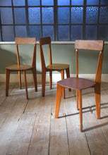 3 French Mid Century Chairs In the Style Of Jean Prouve And Marcel Gascoin