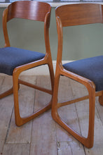 French Vintage Set Of 4 Baumann Sled Chairs