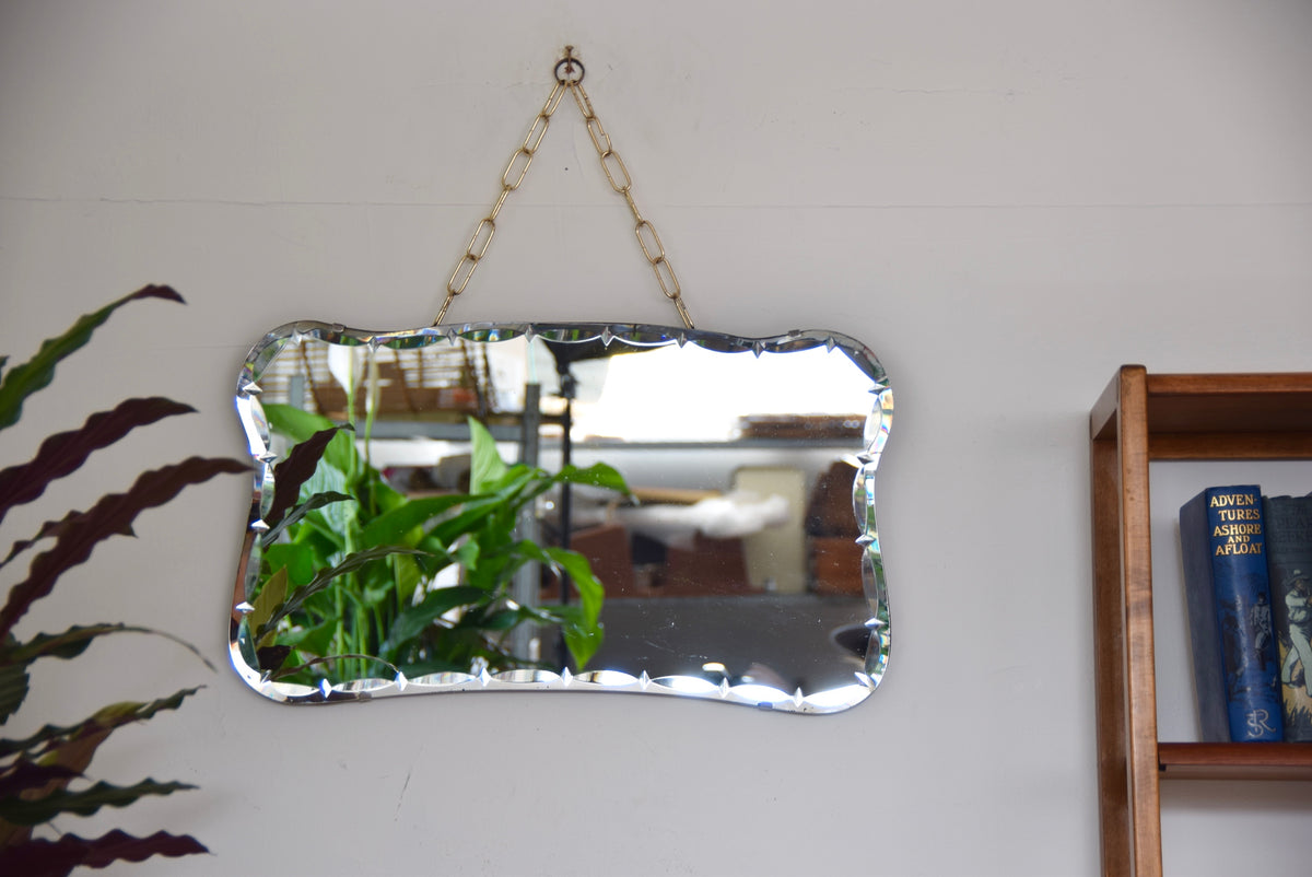 Bevelled Edged Mirror With Chain