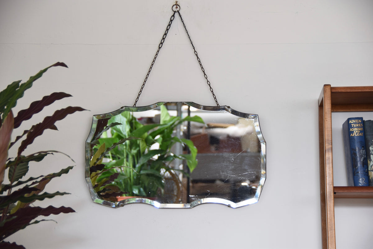 Rectangular Mirror Bevelled Edged With Chain
