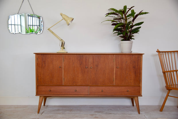 Mid Century Walnut Sideboard Alfred Cox For Heals London
