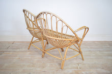 Vintage Wicker Two Seater Love Seat
