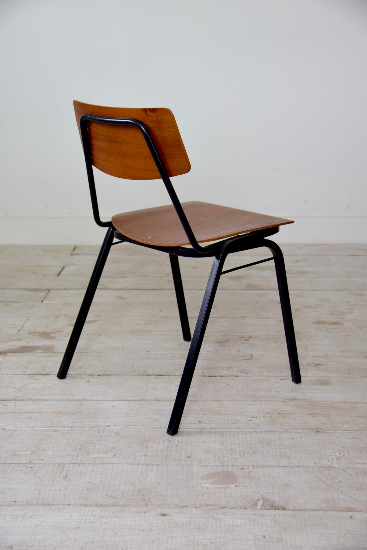 1960's Plywood Industrial Stacking Chairs