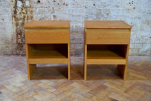 Pair of Oak Bedside Tables By Meredew