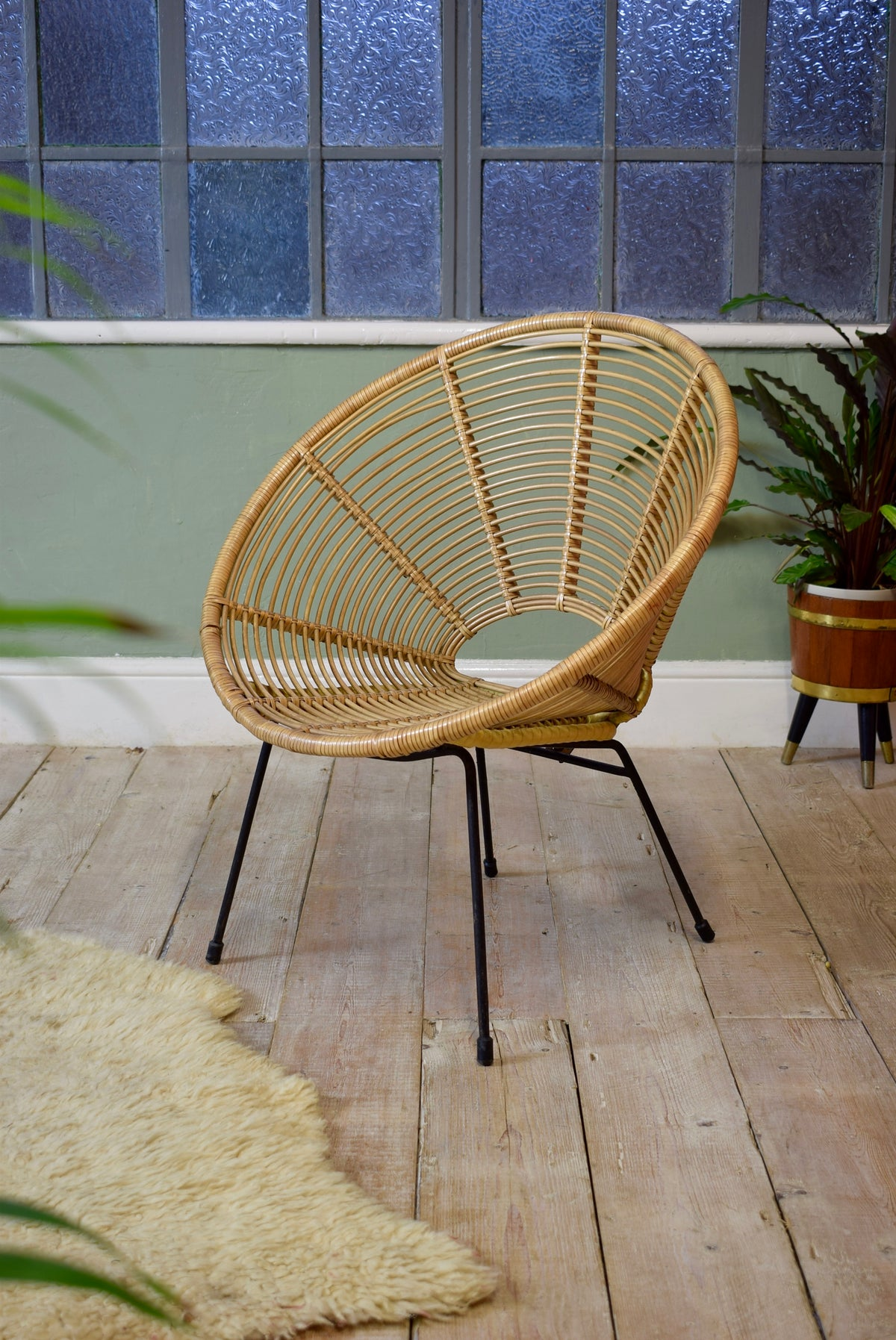 Vintage Dutch Wicker Chair