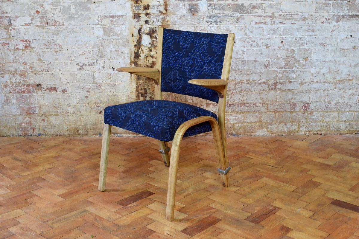 Bow Wood Armchair by Wilhelm Von Bode for Steiner
