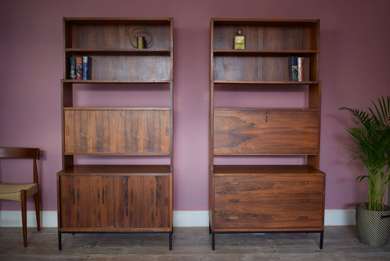 Pair Of Mid Century B & S Goodman London Rosewood Cabinets