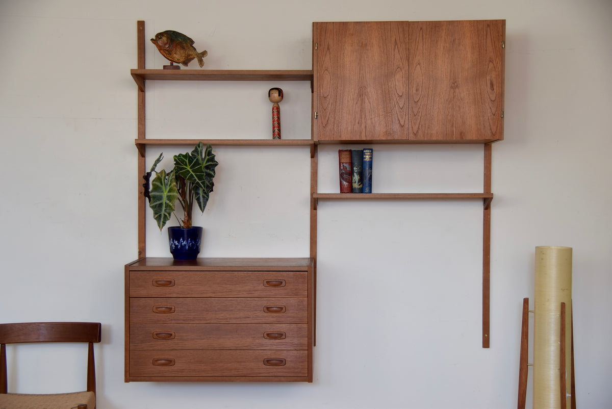 Danish PS Modular Wall Shelving System