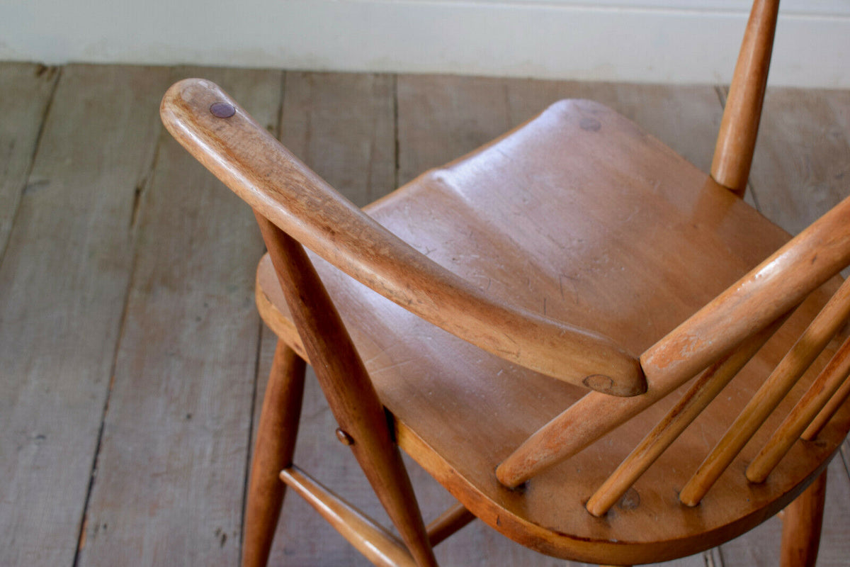 Pair Of Vintage Ercol 370 Blonde Arm Chairs