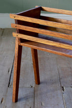 Mid Century Wooden Planter Pot Stand With Tapered Legs