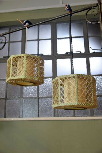 Large String French Vintage Pendant Light Shade