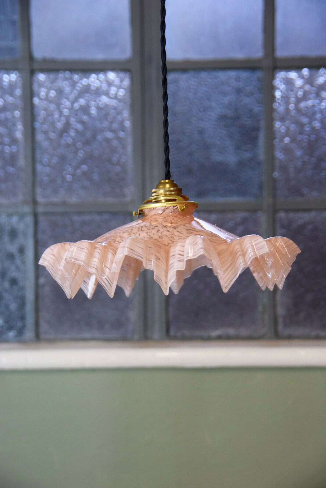 French Vintage Pink Pendant Light Shade