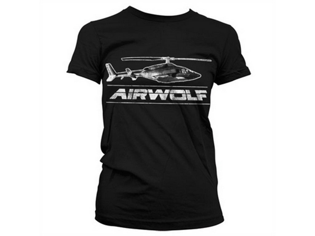 Airwolf Chopper Distressed Girly T-Shirt