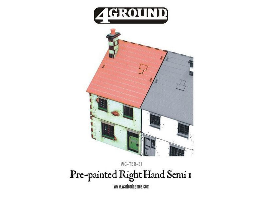 4Ground - Scenery - Pre-painted Right Hand Semi-Detached House