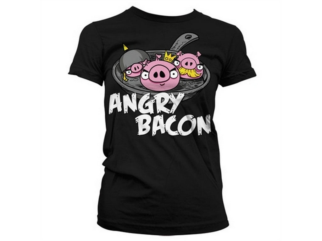 Angry Bacon Girly T-Shirt