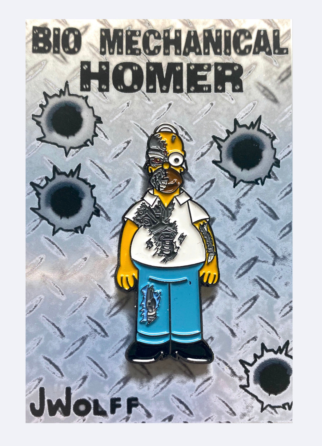 Bio Mechanical Homer Full Body Enamel Pin