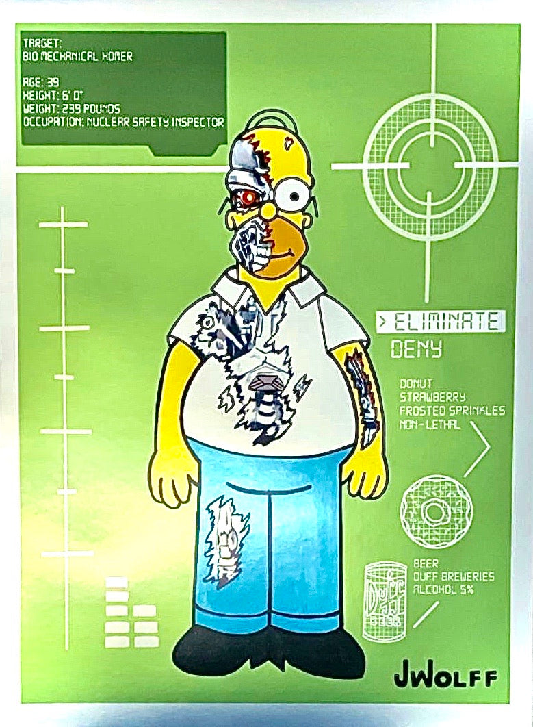 Bio Mechanical Homer Metallic Print