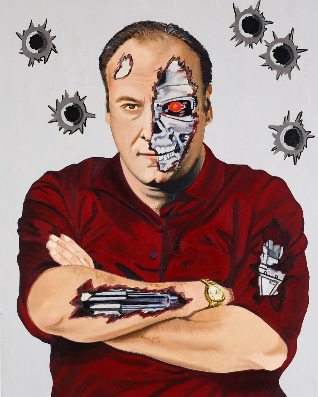 Bio Mechanical Tony Soprano Print