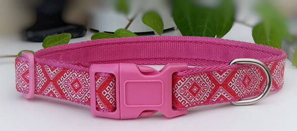 Pink Aztec Dog Collar / Lead