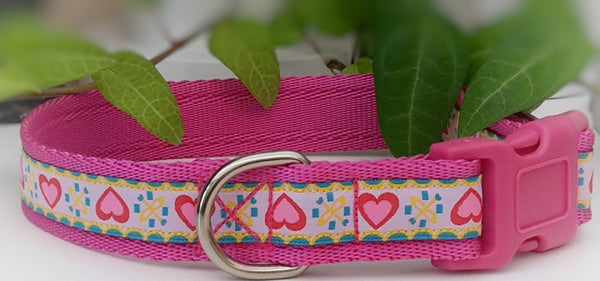 Cupid Hearts Dog Collars & Leads