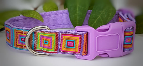 Illusion Squares Dog Collars & Leads