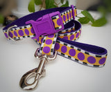 Purple spots Dog Collar / Lead