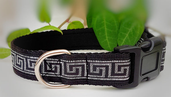 Greek Key Dog Collars & Leads