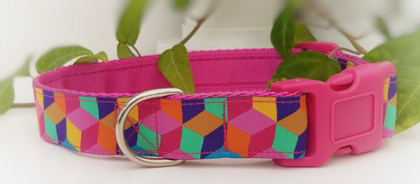 Pink Mosaic Collars & Leads
