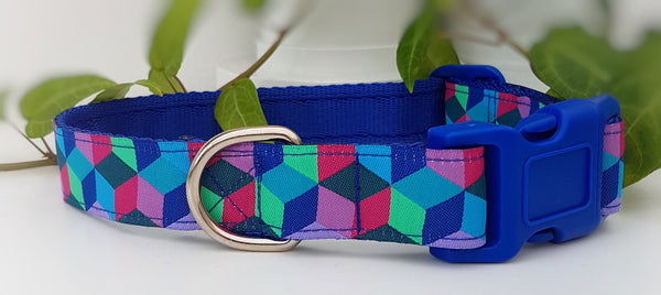 Blue Mosaic Dog Collars & Leads