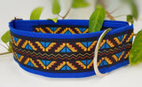 "Blue Zig Zag 2"" Wide Collars"