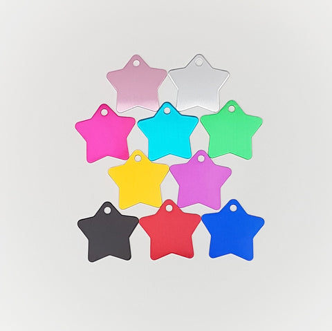 Star Pet ID Tags Large