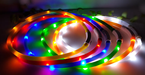 LED light up Recargeable collar bands (Large / Medium)