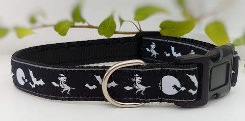 Witches & Broomsticks Dog Collar / Lead