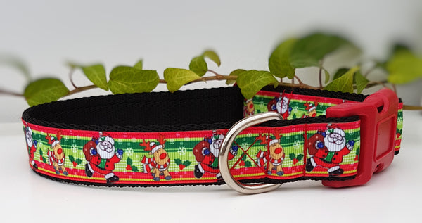 Santa / Reindeer Dog Collar