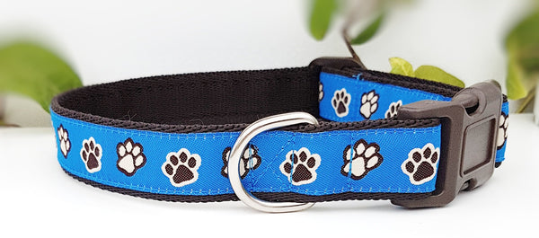 Blue Pawprints Dog Collars & Leads