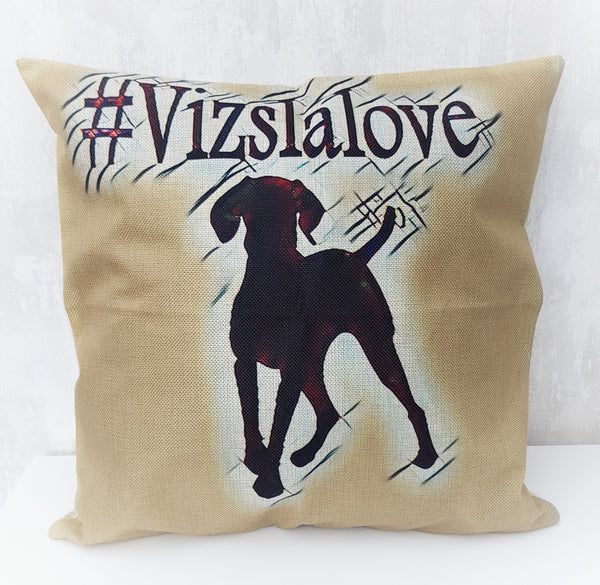 #Vizslalove Cushion Cover