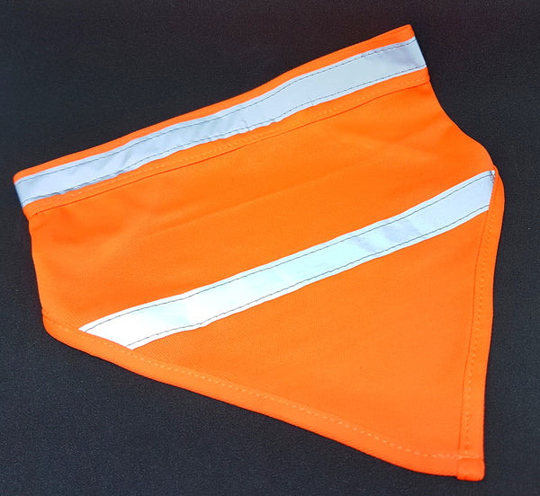 High Vis Dayglow Orange Dog Bandana