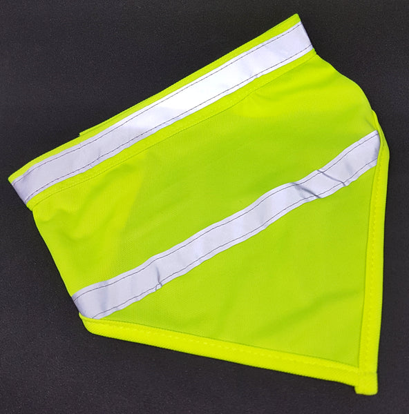 High Vis Yellow Dayglow Dog Bandana