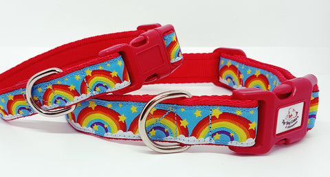 Rainbow Bright Dog Collars & Leads