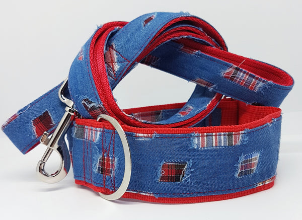Distressed Denim Dog Collars / Leads