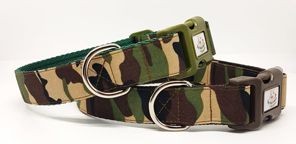 Green Camouflage Dog Collars & Leads