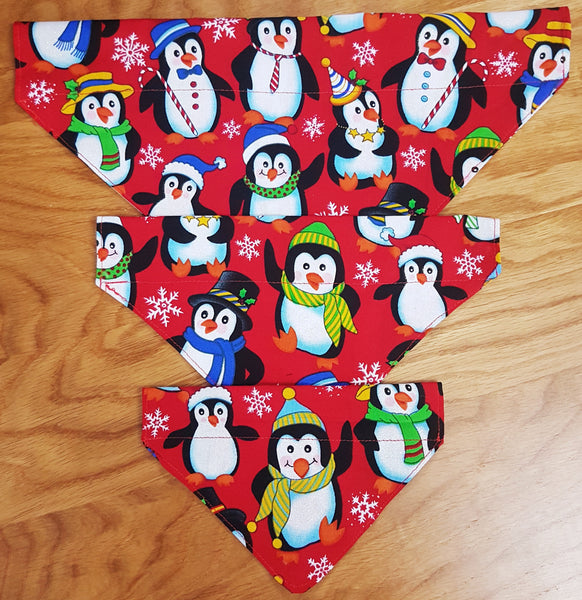 Christmas Penguin Dog Bandanas